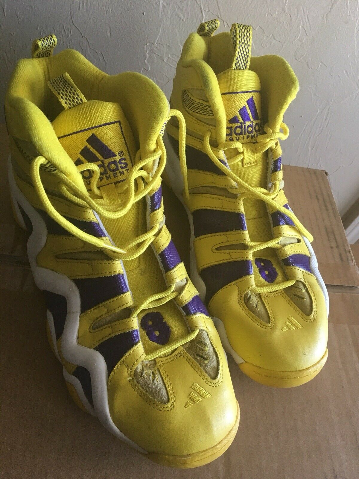 1d2813cc9f81b Rare Adidas Crazy 8 Yellow All Star PE Kobe Bryant Sz. 14 Lakers colorway No