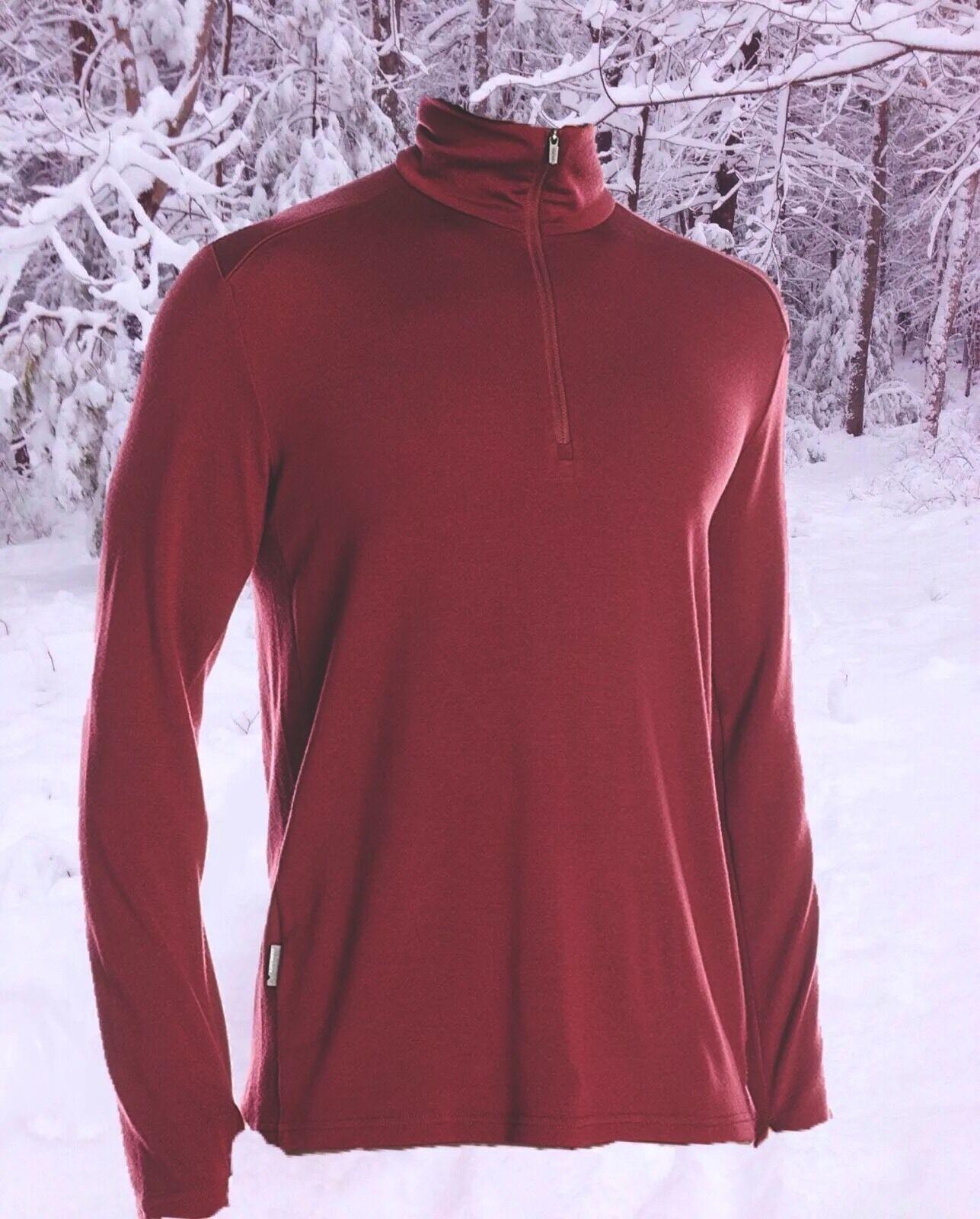 Icebreaker Mens XL Long Sleeve 260g Merino Wool Tech Sports Ski Top Nwt  120