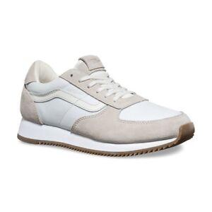 568b747cb2 VANS Runner Blanc de Blanc Suede Men s Skate Shoes Size 8.5
