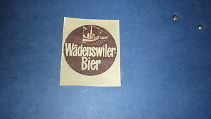 1950s-SWISS-BEER-LABEL-BIER-BRAUEREI-WADENSWILER-SWITZERLAND-BIER-2