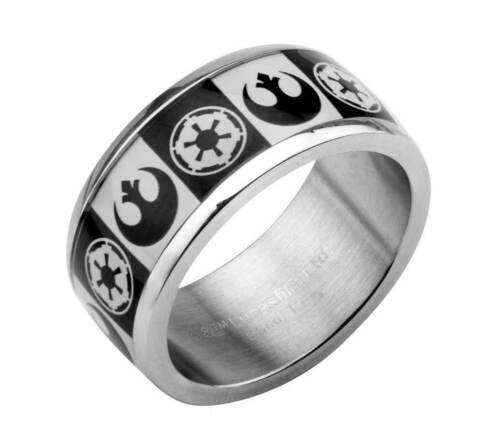 Star Wars Empire Rebel Alliance Logo Stainless Steel Ring