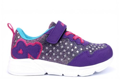 Ascot Girls Trainers Girls Glitter Trainers Girls Touch Fastening Shoes Shiny