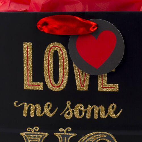 """P... Bolsa De Regalo Mediana De Caoba De 9 /""""Con Papel De Seda Love Me Some Us"""