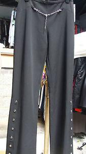 Cadena Vestido Joseph y absolutamente Pantalones 10 Det Reino Ribkoff negros Unido botones aturdidor znfOz6Wr