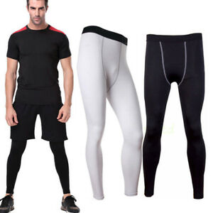 Mens-Skins-Compression-Long-Pants-Leggings-Gym-Base-Layer-Bottoms-Trousers-S-2XL