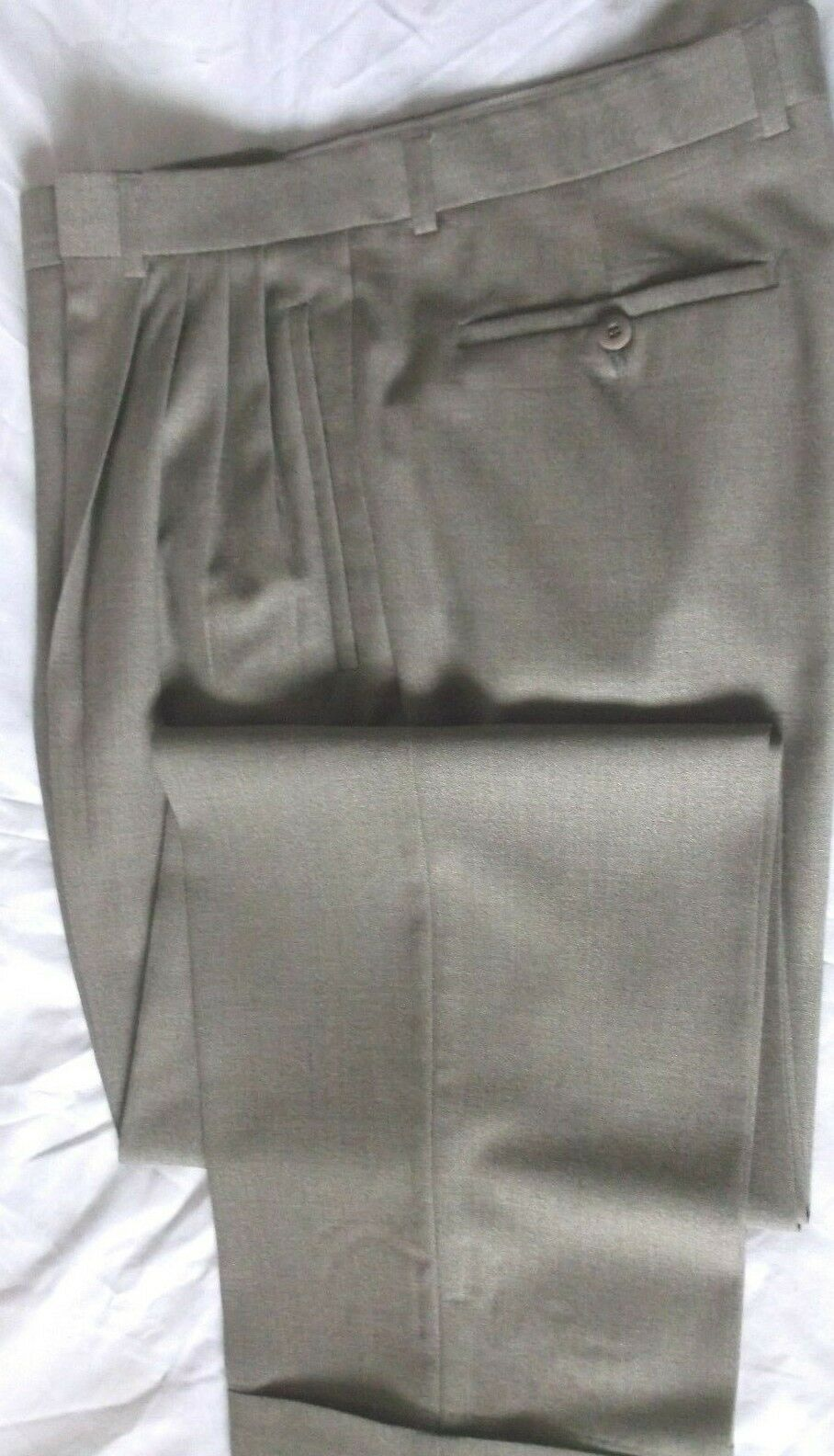 Beautiful Zanella Light Brown Pattern Dress Pants SZ 35W  30 1 2L Made In