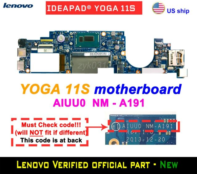 Lenovo Yoga 11S 20246 Laptop i3-4020Y CPU AIUU0 NM-A191 Motherboard