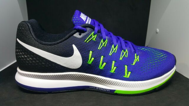 separation shoes 50873 63370 Nike Air Zoom Pegasus 33 Running Training Shoes Blue Green 831352-400 size  10