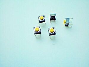 S04-10-Stk-Miniatur-Taster-Drucktaster-Mikrotaster-Eingabetaster-6x6x5-mm