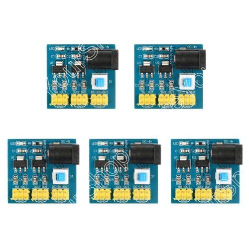 3.3V 5V 12V Power Module Output Voltage Converter DC to DC For Arduino Pi US