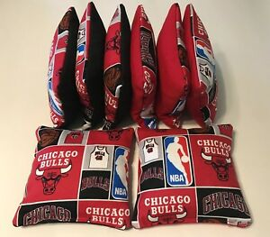 Amazing Details About 8 Cornhole Bean Bag Corn Toss Chicago Bulls Nba Alphanode Cool Chair Designs And Ideas Alphanodeonline