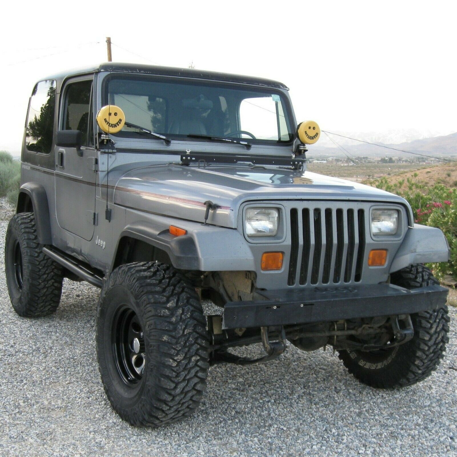 "1987-1996 Jeep Wrangler YJ 31/"" Black Stainless AM FM Antenna Mast FITS"