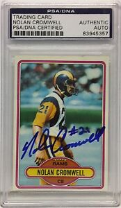 Nolan Cromwell Signed 1980 Topps #423 RC Rookie *Rams PSA/DNA Slabbed 83945357