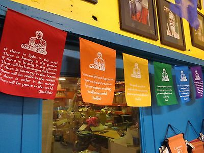 SWEET LARGE BUDDHA PRAYER FLAG 2 STYLES TO CHOOSE FROM LOOKS AB FAB