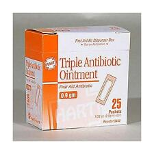 BOX of 25 Triple ANTIBIOTIC  Ointment ( Generic Neosporin ) PACKETS