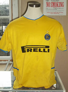 low priced 2e863 1a6b2 Details about Nike Men's Inter Milan Pirelli Gold 100th Anniversary Soccer  Jersey