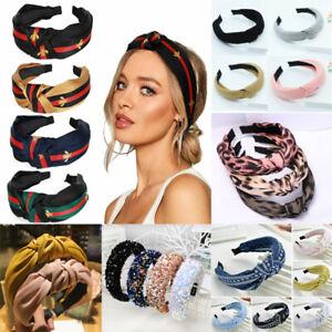 Women-039-s-Cute-Headband-Alice-Band-Top-Knot-Fashion-plain-Headband-Twist-Hairband