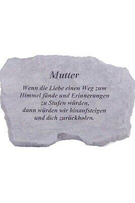 """Design; In Vornehm Gedenkstein """"mutter...."""" Vidroflor Steinguss Friedhof Frostfest 98660 Novel"""