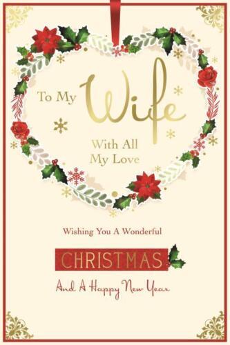 Kingfisher Carte de Noël-à ma femme Avec tout mon amour