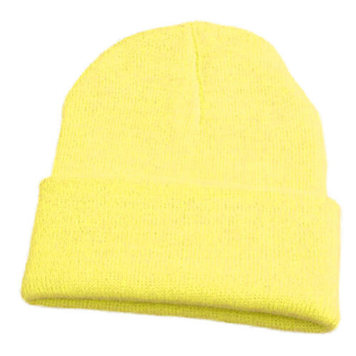 Men Women Unisex Knit Ski Cap Hip-Hop Blank Color Winter Warm Beanie Wool Hat