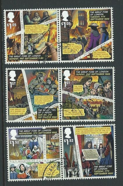 GREAT BRITAIN 2016 GREAT FIRE OF LONDON FINE USED