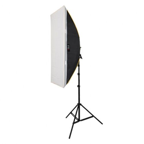 Daylight Dauerlicht-Set GS-120 4x150 W mit Striplight-Softbox Foto-Studiolicht