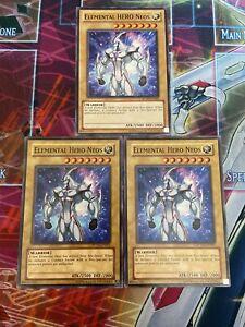 Yu-Gi-Oh 3x Elemental Hero Necroid Shaman Mixed Sets Mixed