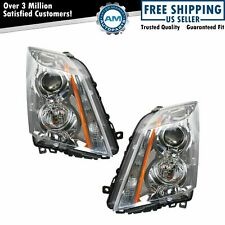 Halogen Headlights Headlamps Left Amp Right Pair Set For 08 14 Cadillac Cts Fits 2010 Cadillac Cts