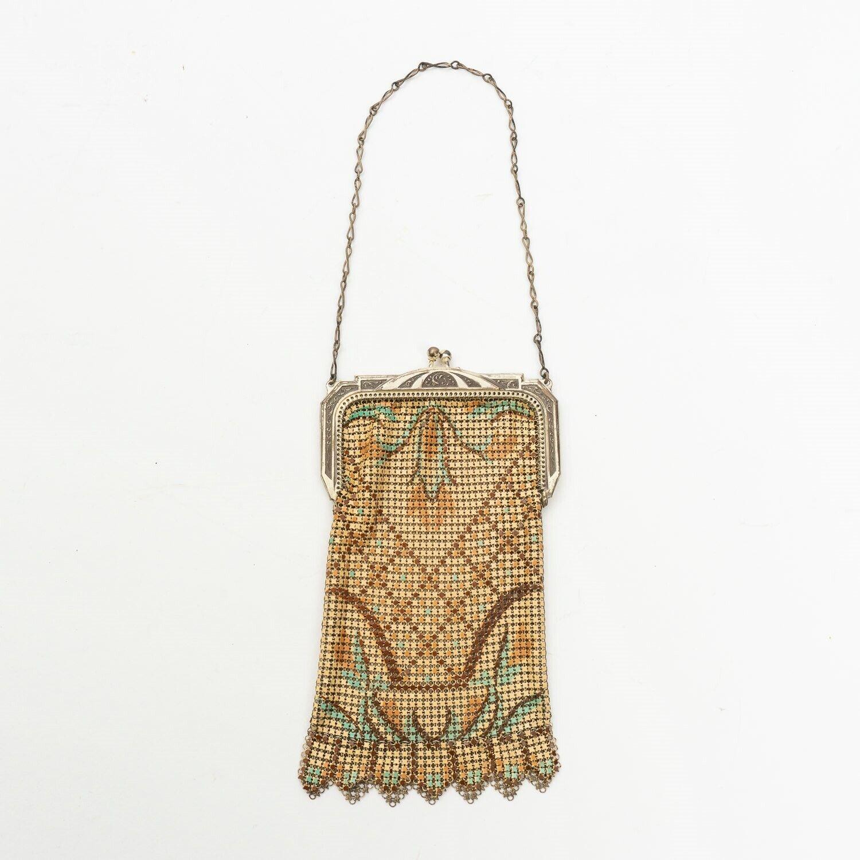 1920 mesh whiting davis bag 1920s Whiting