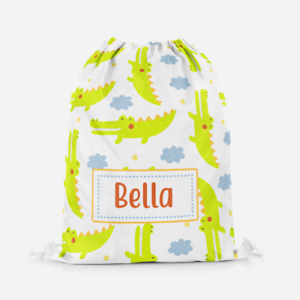 Personalised-Crocodile-Girls-Kids-Drawstring-Bag-PE-Swimming-School-Bag