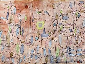 PAUL-KLEE-SPARSE-FOLIAGE-OLD-MASTER-ART-PAINTING-PRINT-POSTER-2304OMA