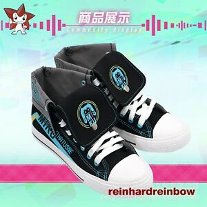 9b5e79c2dac717 Image is loading VOCALOID-Hatsune-Miku-canvas-shoes-Sneakers-casual-shoes-