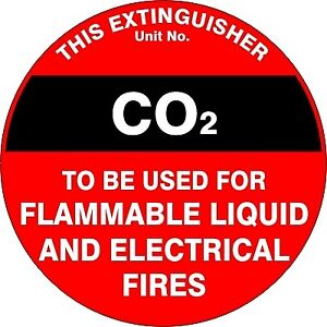 Fire Extinguisher sign or self adhesive vinyl sticker FEQ07