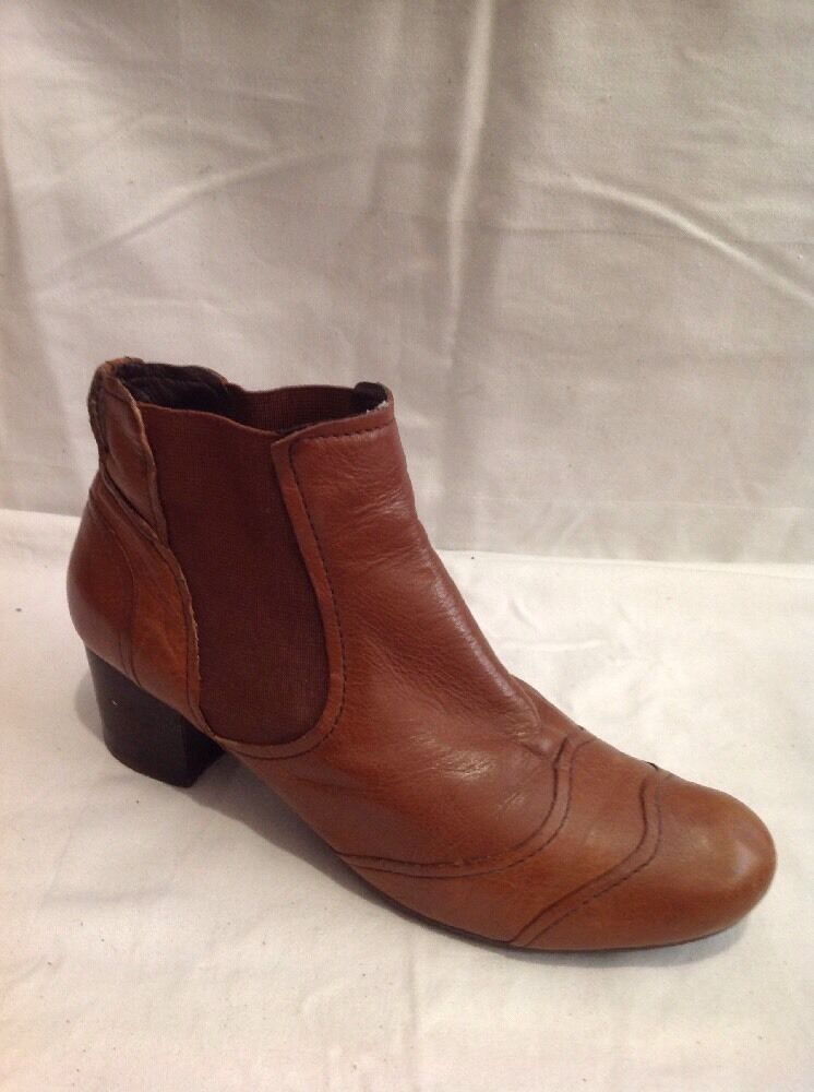 Bertie Brown Ankle Leather Boots Size 41