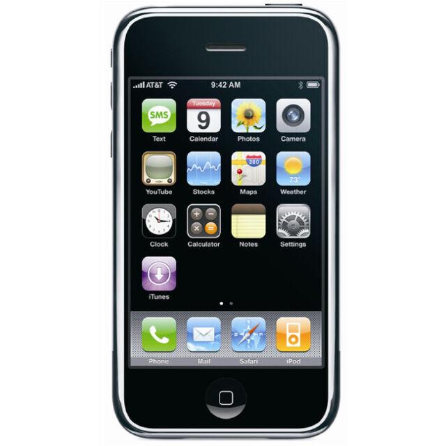Apple iPhone 1st Gen 2G - iOS 1.0, 1.1.4 - 4GB, 8GB - Black (Unlocked) - Rare!