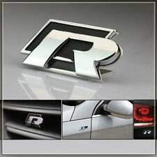 R Racing Sports Black Metal Sticker 3D Chrome Badge Logo Sticker for Car & Bike
