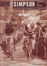 06/09/65 miroir sprint n°1005 CHAMPIONNATS DU MONDE SIMPSON  et  BOTHEREL