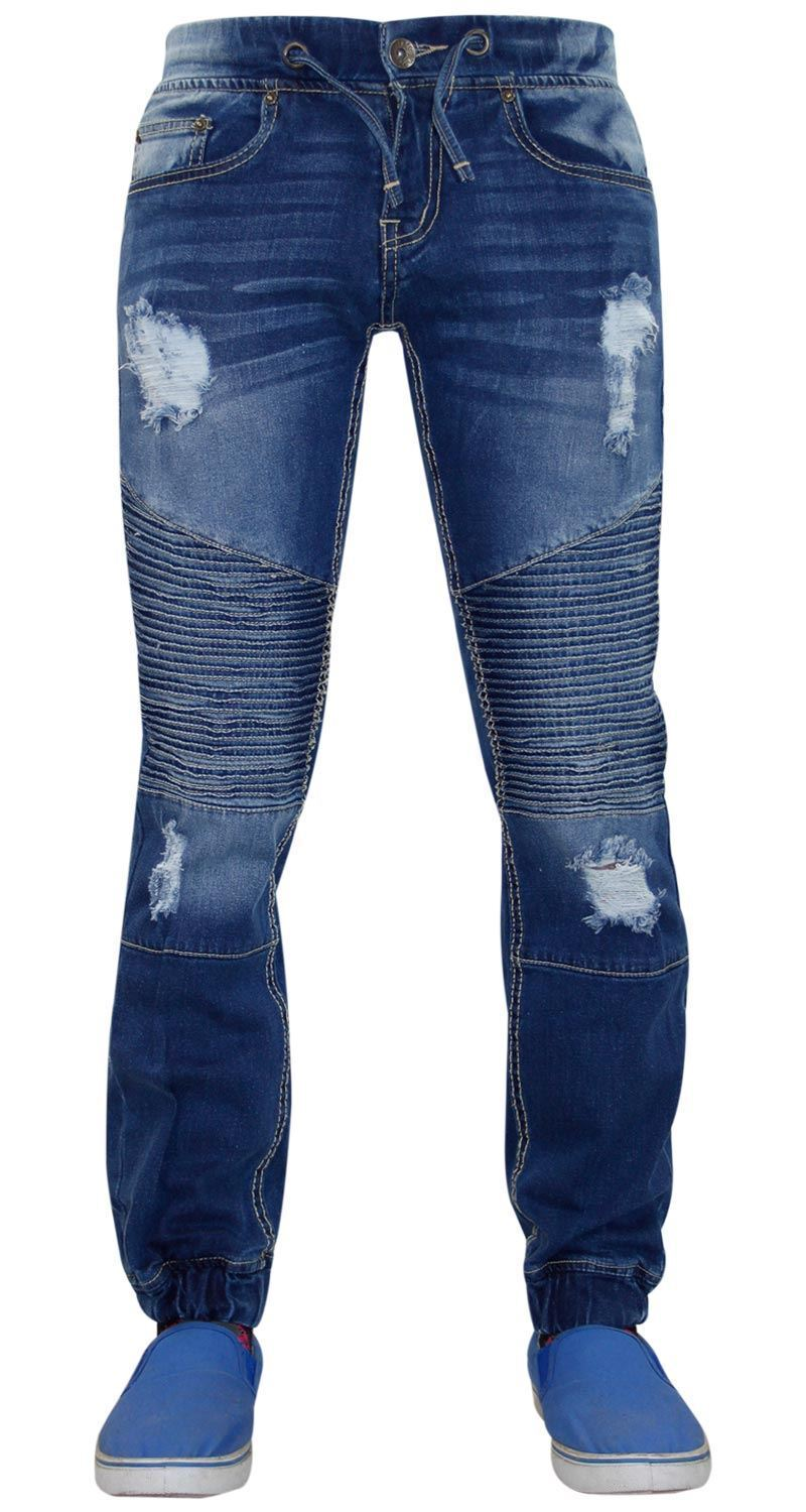 fb6d502088 Mens True Face LODN Stretchable Denim Ripped Stretch Jeans Trousers Pants