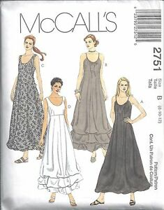 McCalls-Sewing-Pattern-2751-Misses-Petite-Lined-Dresses-Size-8-10-12