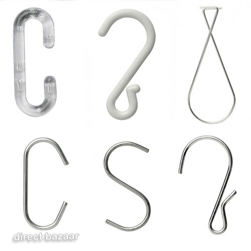 Hangers 20 x Metal Crimped S Joining Hooks