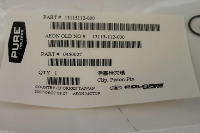 POLARIS PURE OEM NOS ATV PISTON PINS CLIP PACK OF 4  0450027