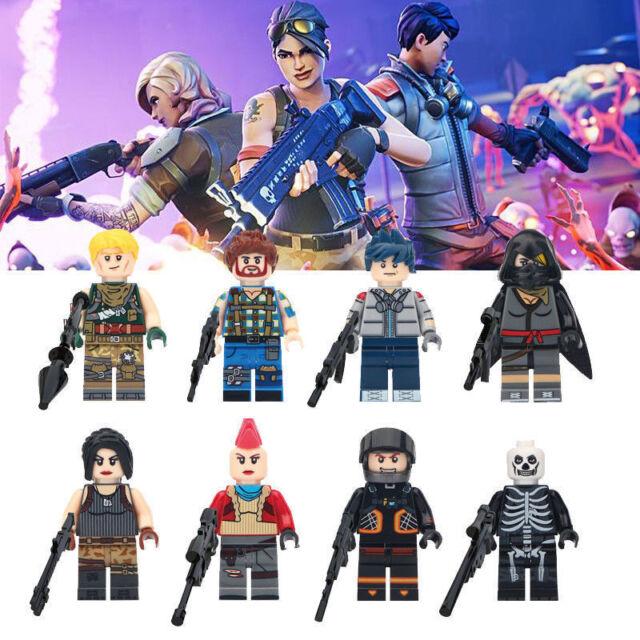 8pcs Fortnite Mini Figures Characters Building Blocks Fits Lego Kids