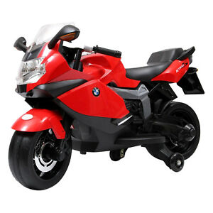 Bmw 12v Kids Ride On Motorcycle Licensed K1300s Model In Red Ebay