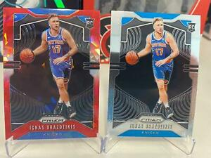 PANINI-PRIZM-NEW-YORK-KNICKS-IGNAS-BRAZDEIKIS-RED-ICE-AND-BASE-RC