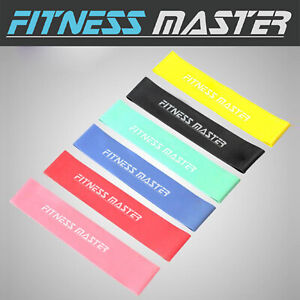 6pc-Resistance-Bands-Loop-Power-Band-Exercise-Crossfit-Strength-Fitness-GYM-Yoga