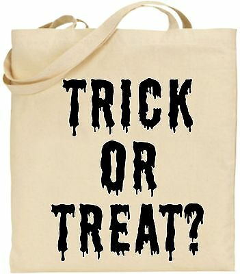 Trick/Süßes groß Baumwoll-tragetasche Halloween Cool Unheimlich Gruselig