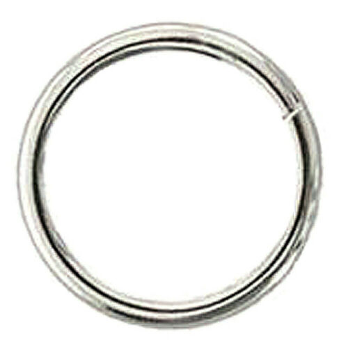 C-TY08 Pack Of 8 1 in X 5.0MM Western Horse Tack Weld Wire Ring Nickel Plated