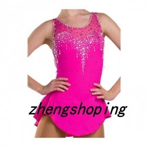 Competition Figure Skating Dress /& Ice Skating Dress Sparkle  Girls 8815