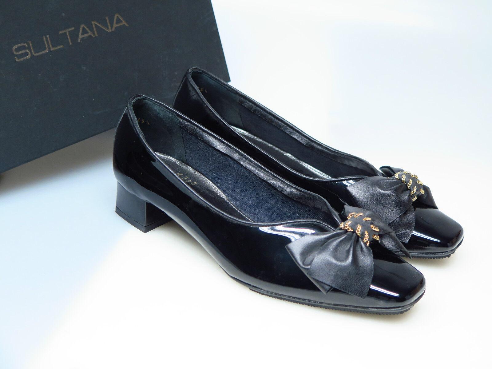 SULTANA Schuhe Designer Damenschuhe N4410-M Lucy Vernice schwarz Gr. 36,5 NEU
