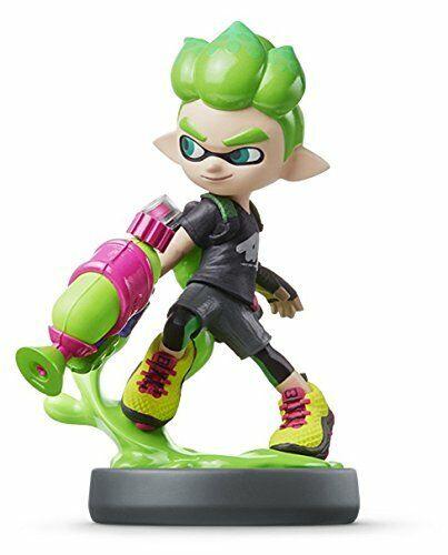 Amiibo Boy Neón Verde Splatoon Serie para Nintendo Wii u Game Toy Nuevo de Japón